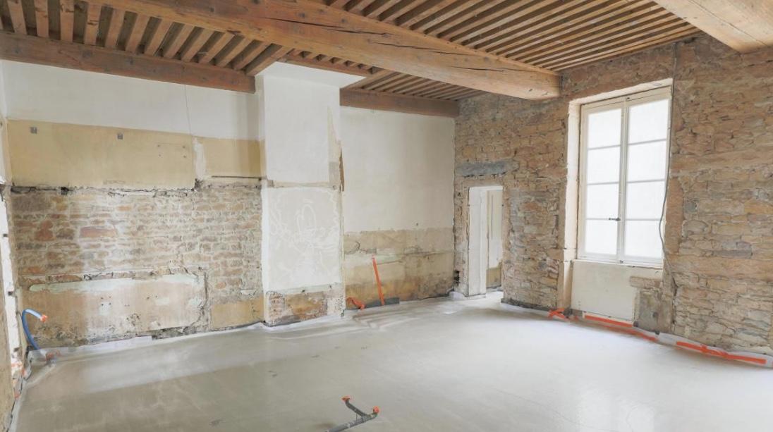 Projet de rénovation, plateau à aménager